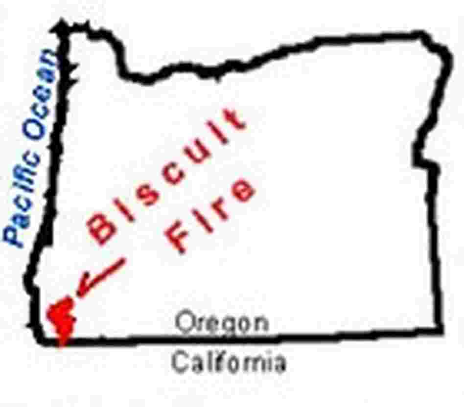Biscuit Fire Map
