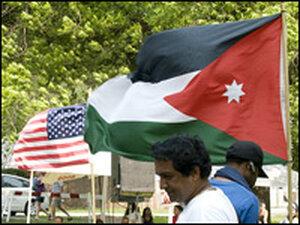 Arab and U.S. flags