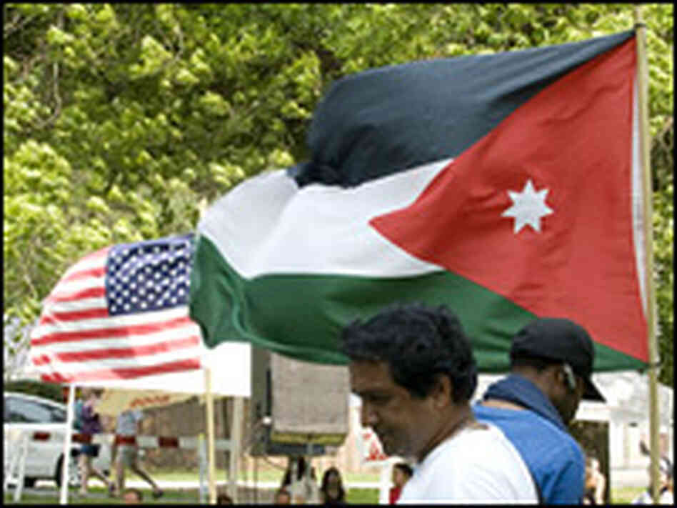 Arab and U.S. flags