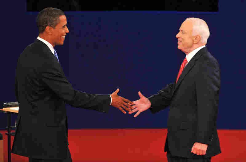 Democrat Barack Obama and Republican John McCain