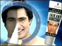 Skin whitening ad