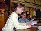 Children reading at Wickliffe Elementary in Upper Arlington, Ohio