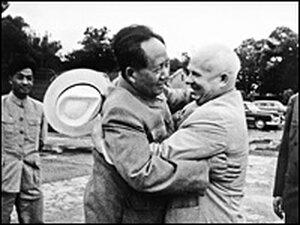 With Post-Stalin Soviet ruler Nikita Khrushchev.