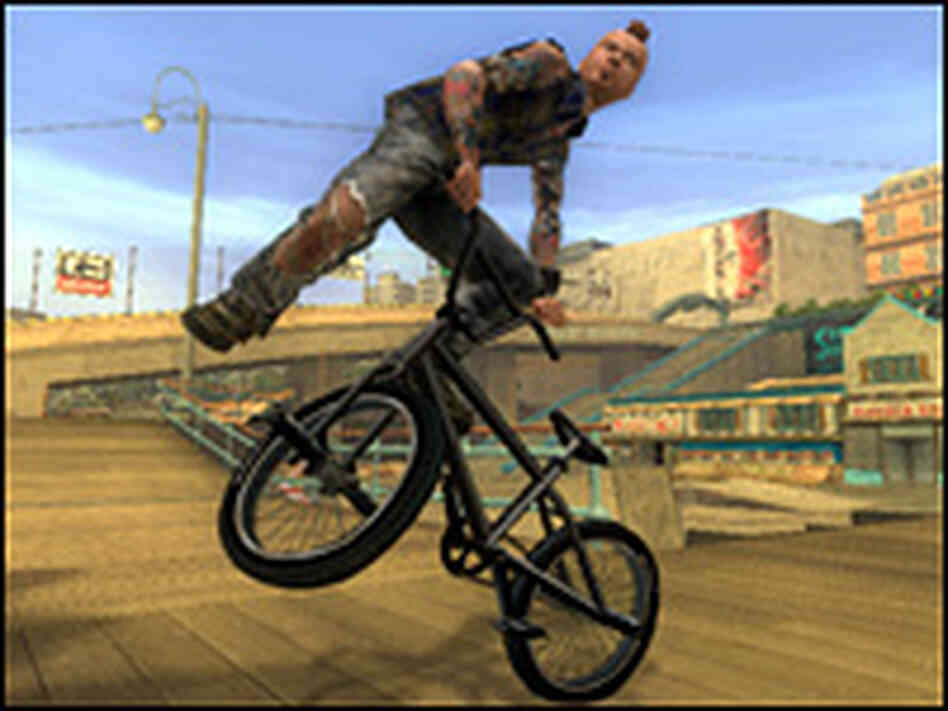 Scene from Tony Hawk's American Wasteland video game.