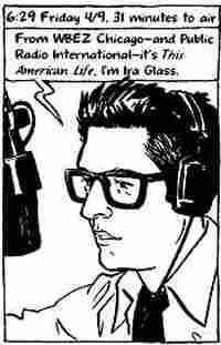 Panel from the 'This American Life' comic/book 'Radio: An Illustrated Guide.'