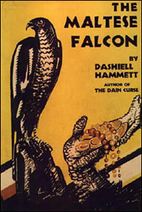 Detail from Dashiell Hammett's The Maltese Falcon.