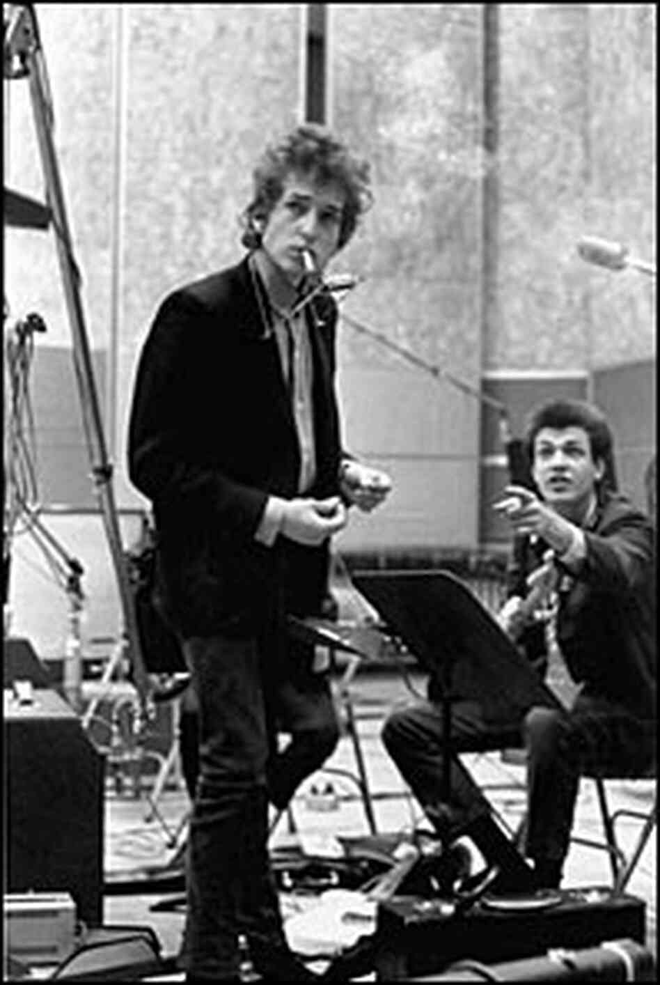 Bob Dylan with Michael Bloomfield.