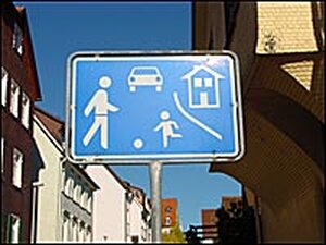 A sign in Germany signals a small village ahead.