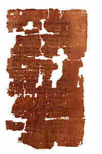 This lead section of the pieced-together Gospel of Judas.