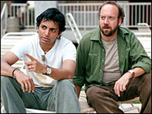 M. Night Shyamalan and Paul Giamatti