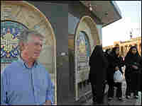 Ted Koppel in Jamkaran mosque in Qom, Iran.