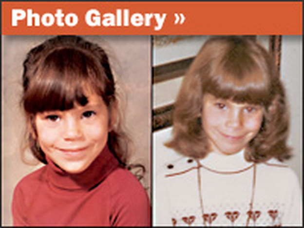 Paula Bernstein (left) and Elyse Schein are identical twins who were separated as infants and adopted by different families.