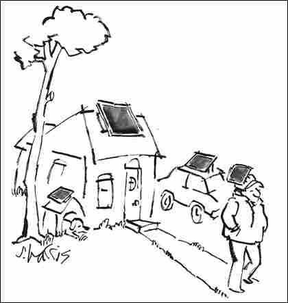 Solar Energy Cartoon