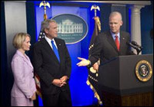 Tony Snow with Dana Perino, President Bush