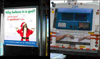 God ads on buses.