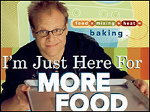Detail from the cover of Alton Brown's 'I'm Just Here For More Food.'