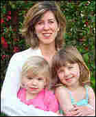 Catherine Savage with daughters Lindsey (pink shirt), and Karenna (blue shirt).