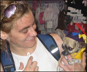 """Jennifer Culpepper and her chihuahua """"Beep."""""""