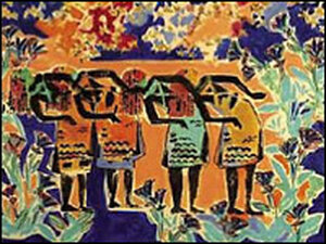 Detail from the cover of 'Tropical Fish'