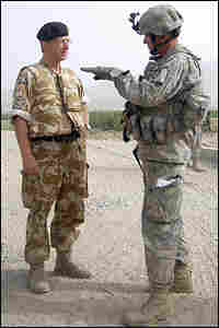 Lt. Gen. David Richards and Col. Steve Williams. Credit: Bronwen Roberts/AFP/Getty Images.