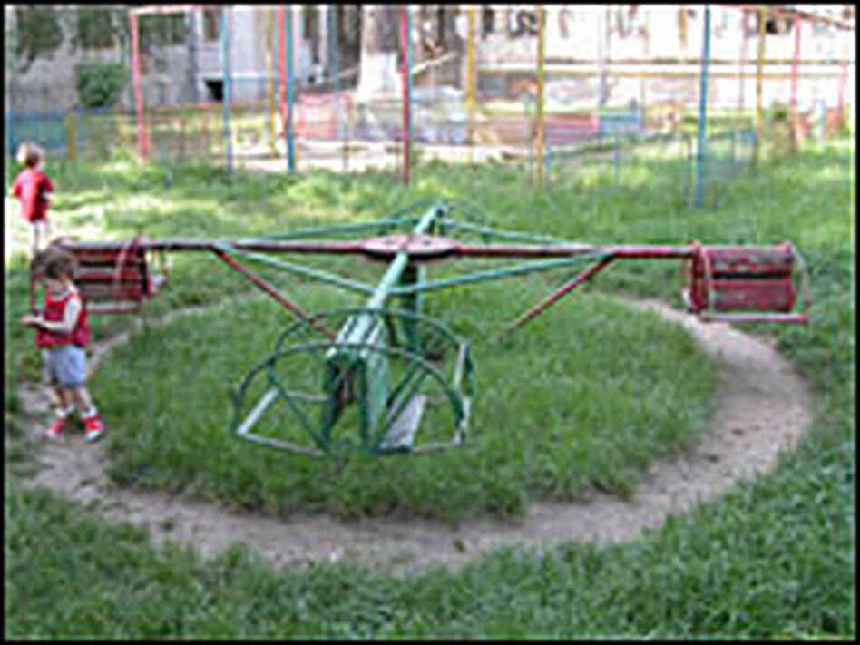 Playground at St. Catherines, an orphanage in Romania
