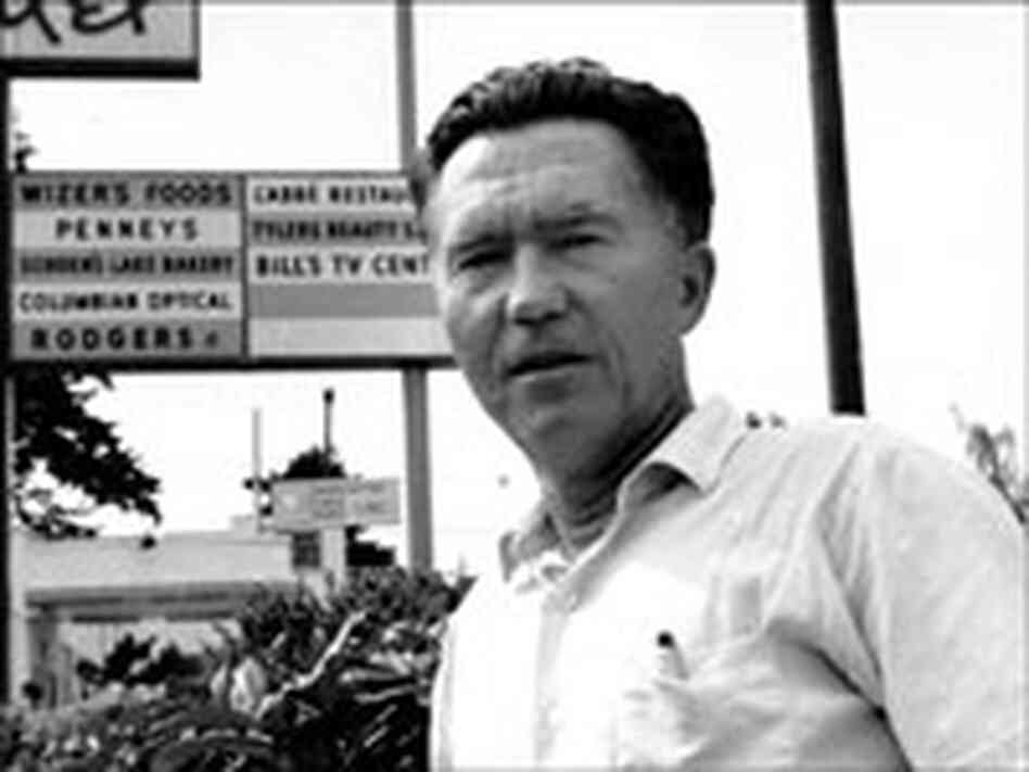 Poet William Stafford in Oswego, Ore.