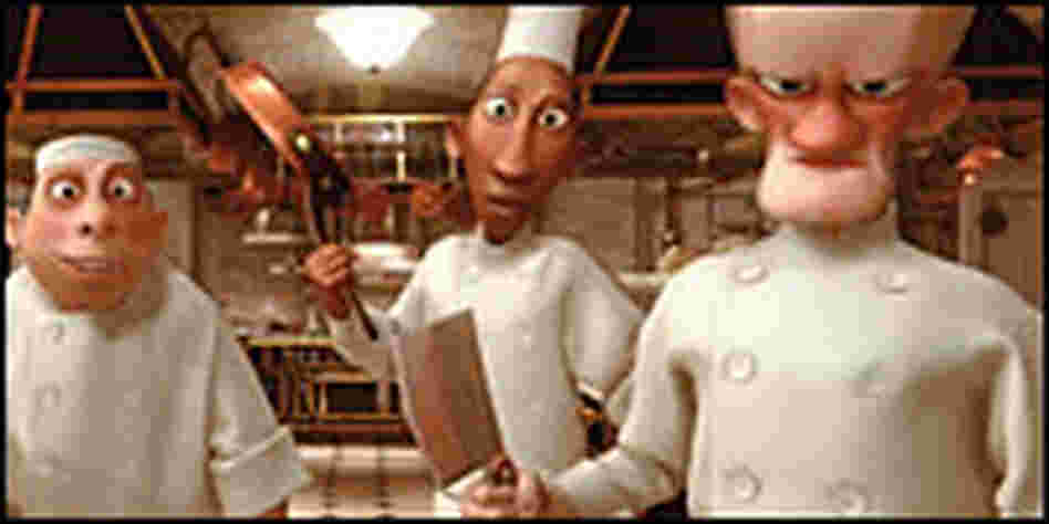 Kitchen crew with knives, from 'Ratatouille'