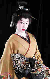 Picture of Saotome in a Geisha outfit