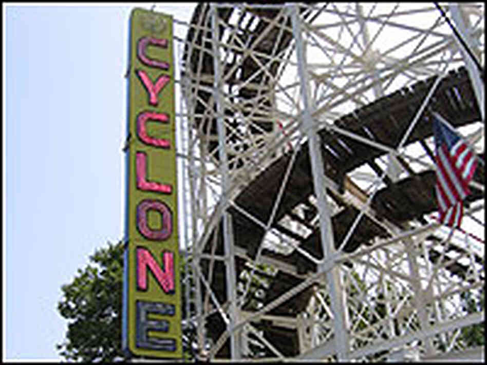 The Cyclone roller coaster at New York's Coney Island