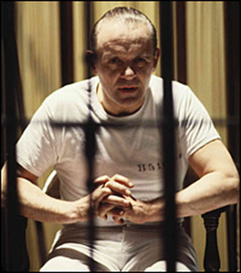 Anthony Hopkins caged in 'Silence of the Lambs'