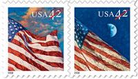 The stamp on the right has an extra stripe.