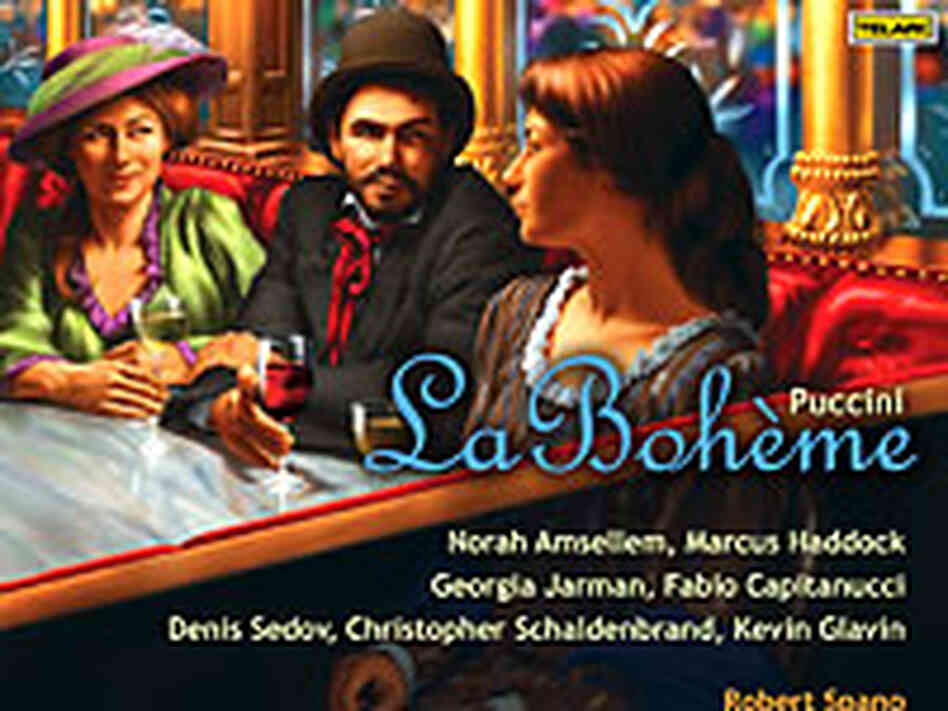 "Cover art for the new ""La Boheme"" recording from the Telarc label."