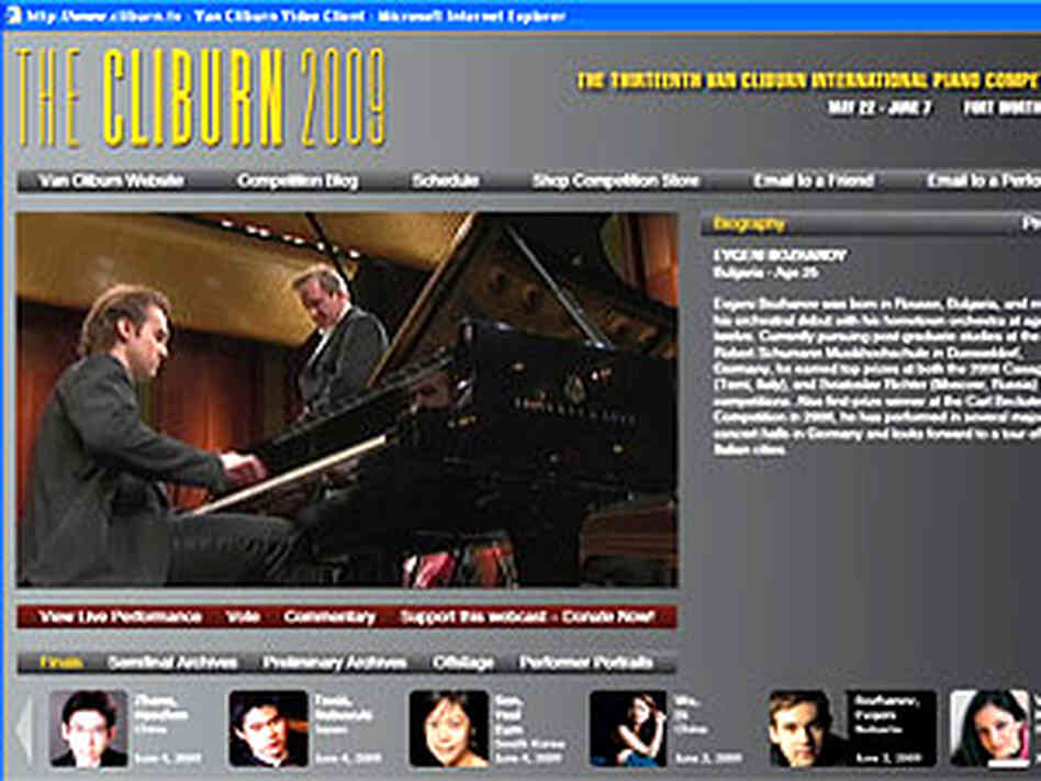 This year, the Cliburn Piano Competition is streaming all performances and rehearsals -- live audio