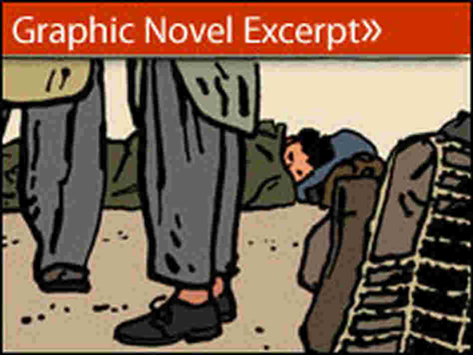"Illustration from graphic novel ""The Photographer"""