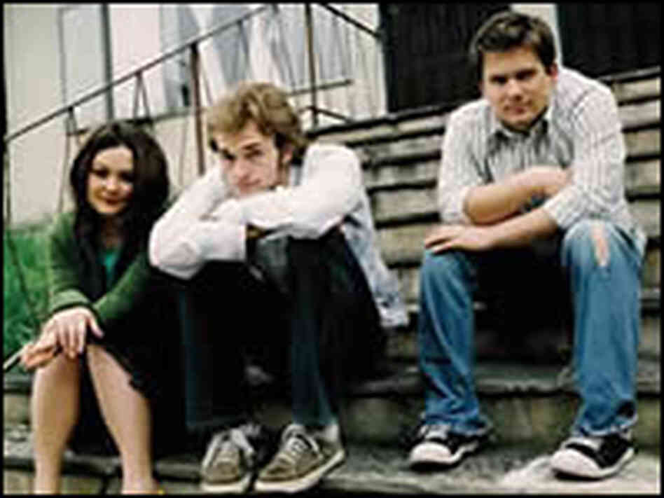 Chris Thile, left, and siblings Sean Watkins and Sara Watkins.