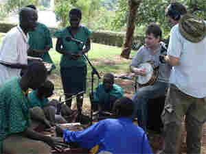 Bela Fleck with the Ateso Jazz Band of Uganda (300)