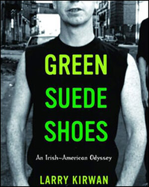 Detail from the cover of 'Green Suede Shoes'