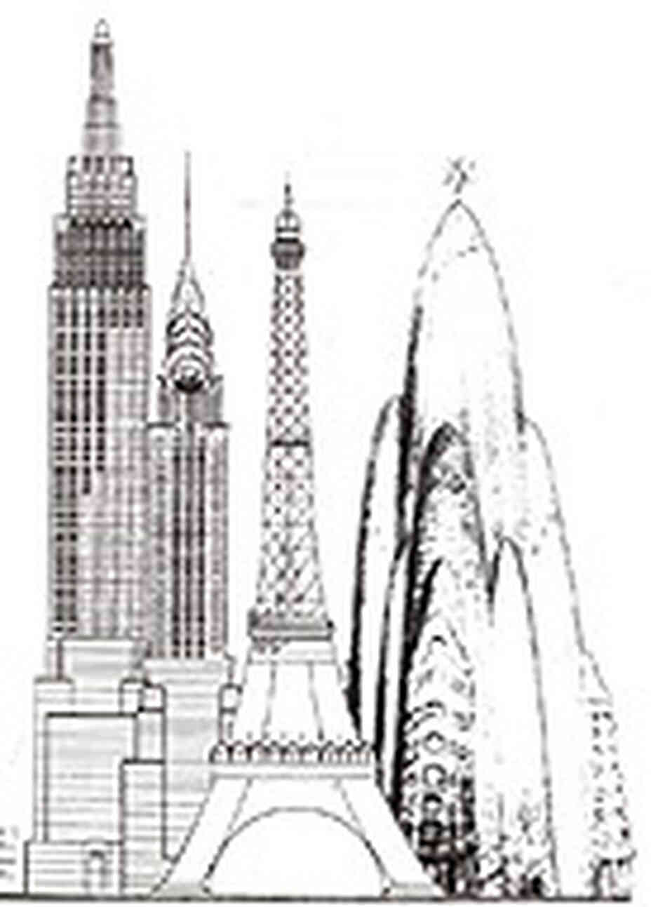 Chrysler Building Coloring Page - 2018 images & pictures - Chrysler ...