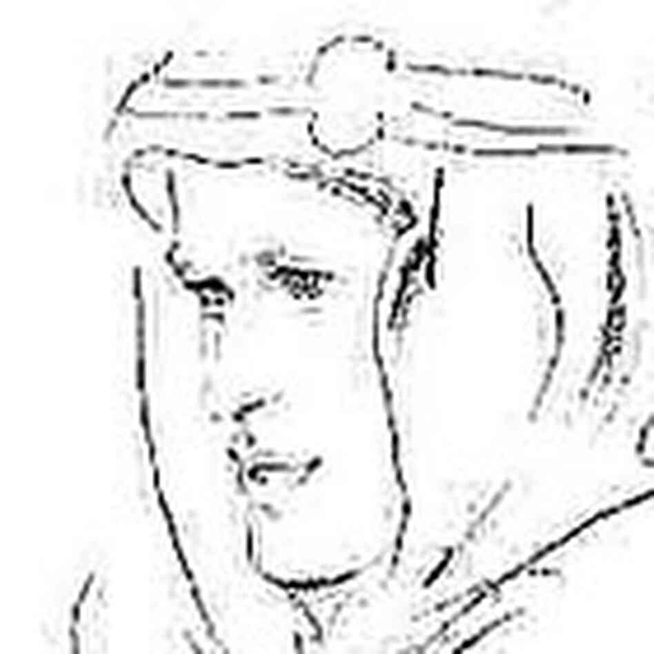 Pencil sketch of T.E. Lawrence