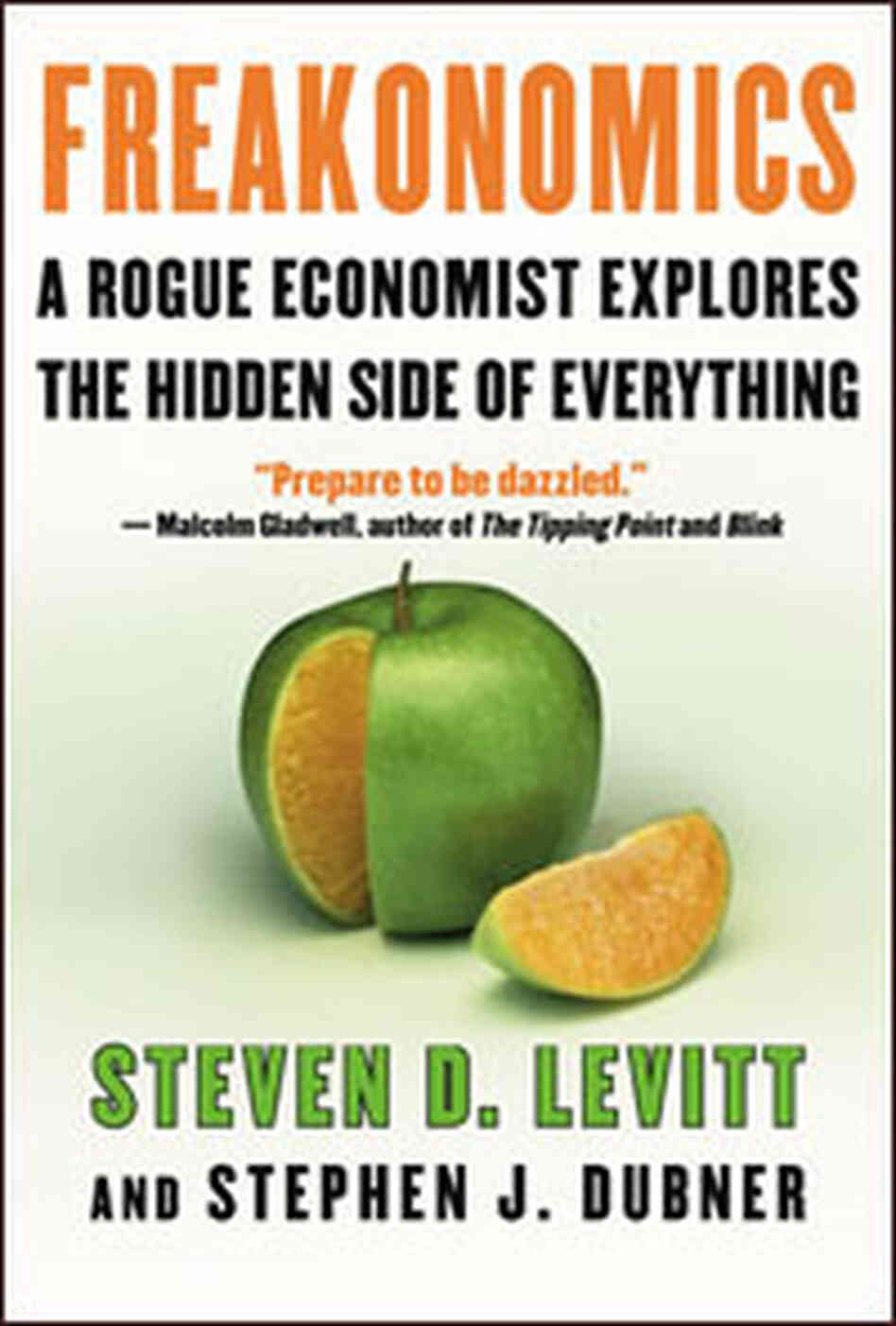 The cover of Freakonomics, by Steven D. Levitt and Stephen J. Dubner.