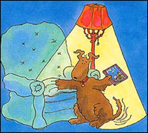 Detail from cover of 'Three Stories You Can Read to Your Dog'