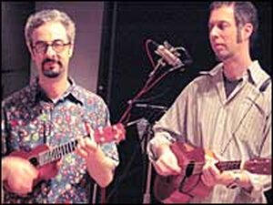 Alan Drogin (left) and Steven Swartz at NPR's studio.