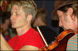 Hackensaw boys Jesse Fiske (left) and Ferd Moyse.