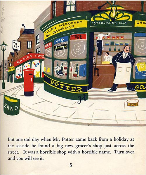Page from the Graham Greene children's book 'The Little Horse Bus'