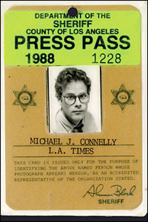 Connelly's press pass