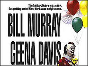 Bill Murray as a clown in a detail from the poster for 'Quick Change.'