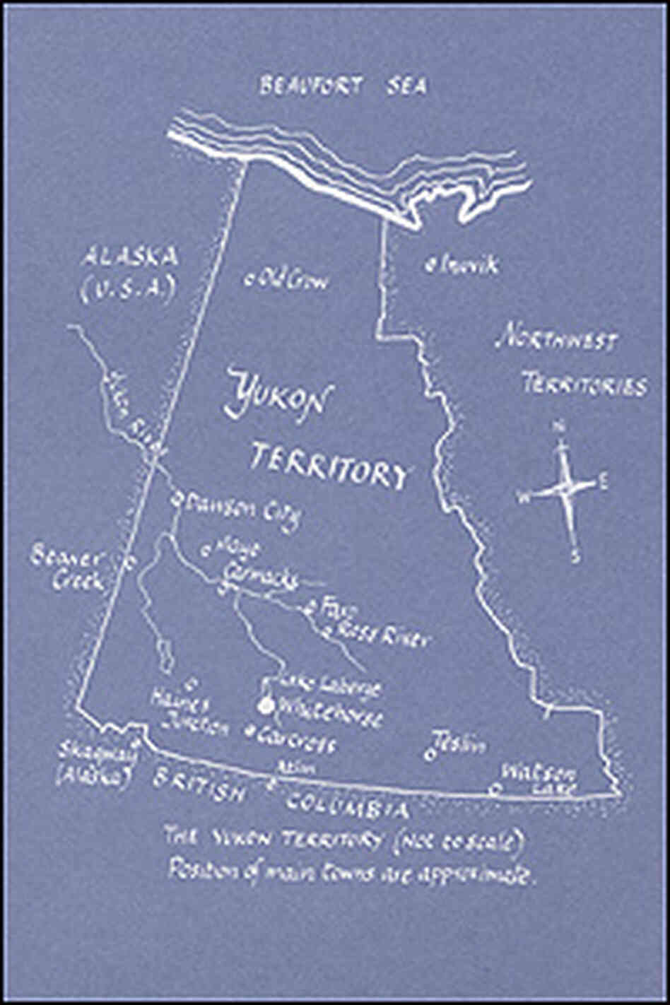 A helpful map of the Yukon serves as the back cover of the book.