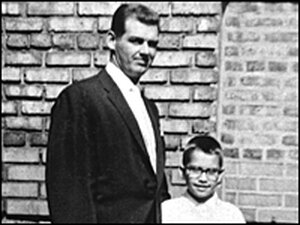 Larsen (left) poses with his cousin, Phillip Hoose.