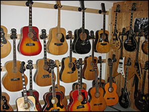 Ingo's Vintage Ibanez Museum includes more than 60 instruments.