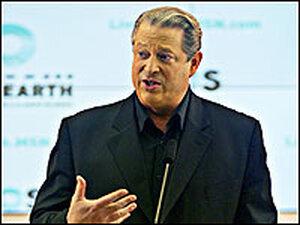 Al Gore at a 'Live Earth' press conference in Turkey.